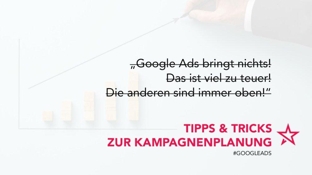 Google Ads Tipps Falsche Aussagen