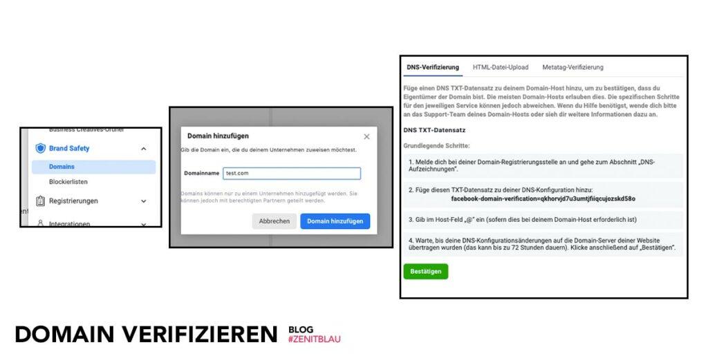 ZB Blog Facebook Domain verifizieren